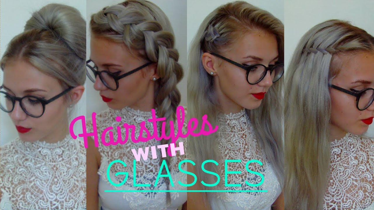 5 awesome easy hairstyles for people with glasses | stella