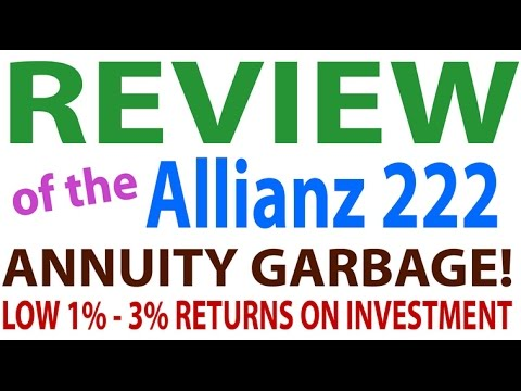Review Of Allianz 222 Fixed Index Annuity - Garbage!