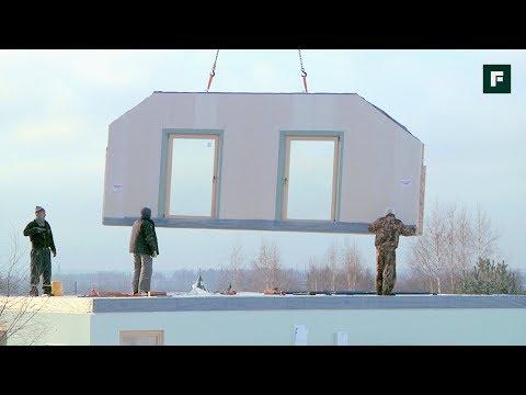 Монтаж дома по сборно-панельной технологии // FORUMHOUSE
