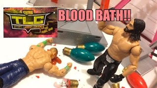 GTS WRESTLING: TLC PPV Event! WWE Mattel Wrestling Figure Matches Animation! Tables Ladders Chairs