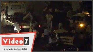 بالفيديو..شلل مرورى بشارع البطل عبد العزيز جراء حادث تصادم بمطلع أكتوبر