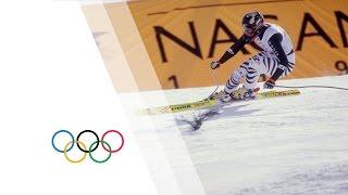 Skiing - Katja Seizinger - Downhill Highlights | Nagano 1998 Winter Olympics