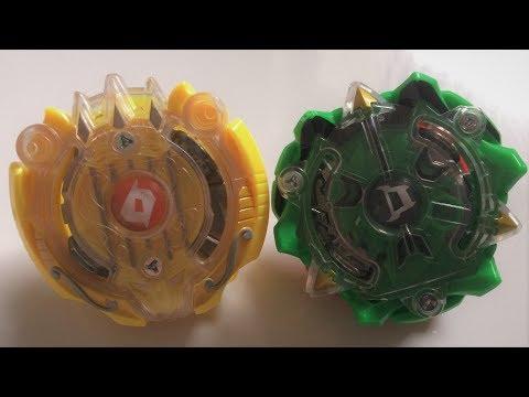 Orpheus O2 2Cross Nothing  vs Diomedes D2 7Vortex Spiral : Beyblade Burst Evolution