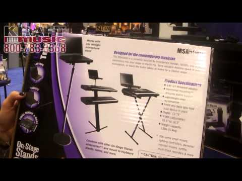 Kraft Music - On-Stage Stands MSA5000 Laptop Stand NAMM 2015