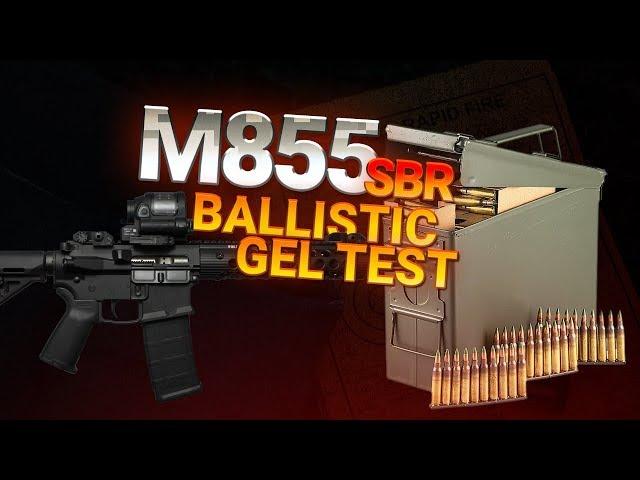 Lake City M855 SBR Ballistic Gel Test