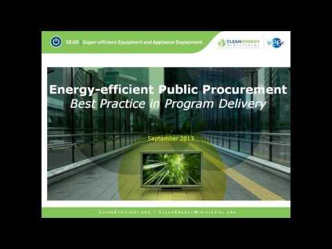 Energy Efficient Public Procurement: Best Practice in Program Delivery