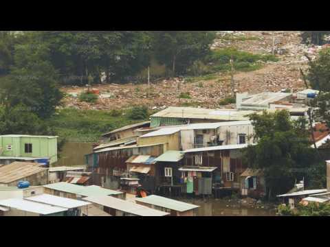 Poor district of Ho Chi Minh. Slum