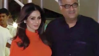 Hot sridevi spotted with husband boney kapoor at rima jain's birthday bash | uncut video