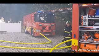 31.08.2019 Brand på gård nær Græsted