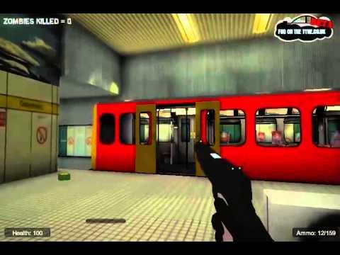 Metro Zombies Attake Subway 3D เงิบแดก!! [Game Web]
