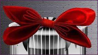 Как сделать оригинальный бант из атласной ленты. Бант из ленты своими руками. (bow of ribbon)