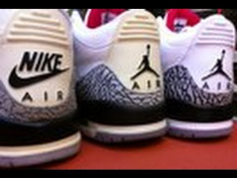 check out 5ee9f 422e3 Jordan White Cement 3 Comparison 1988 2003 2011 The Shoe Game Flightclubny