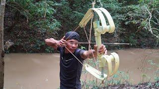How To Make Amazing Double Powerful PVC Bowfishing | PVC Bowfishing VS Huge Fish