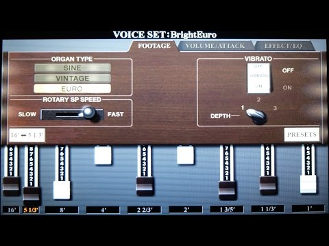 Yamaha PSR-S970 Voice Patch Demos P3: Organ & Organ Flutes