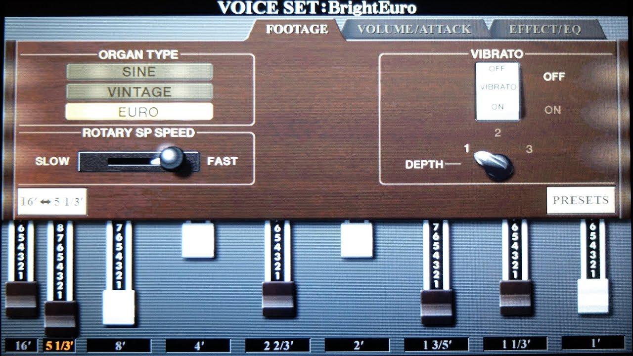What S A   Organ Yamaha Voice