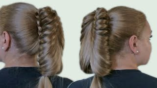 Прическа с Хвостом на Длинные Волосы Видео Обучение| Tail Braid Hairstyle Hair Tutorial