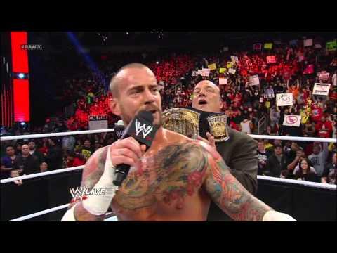 Brodus Clay vs. CM Punk: Raw, Jan. 14, 2013