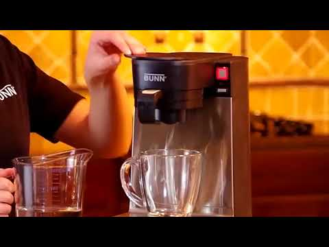 bunn coffee maker with water hookup