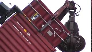 Ribaltatore per container - Container tilter | TC Recycling