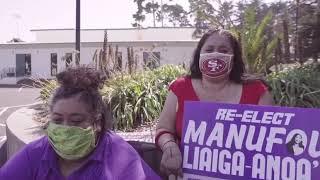 Gaynor Siataga Supports Manūfou Liaiga-Anoa'i