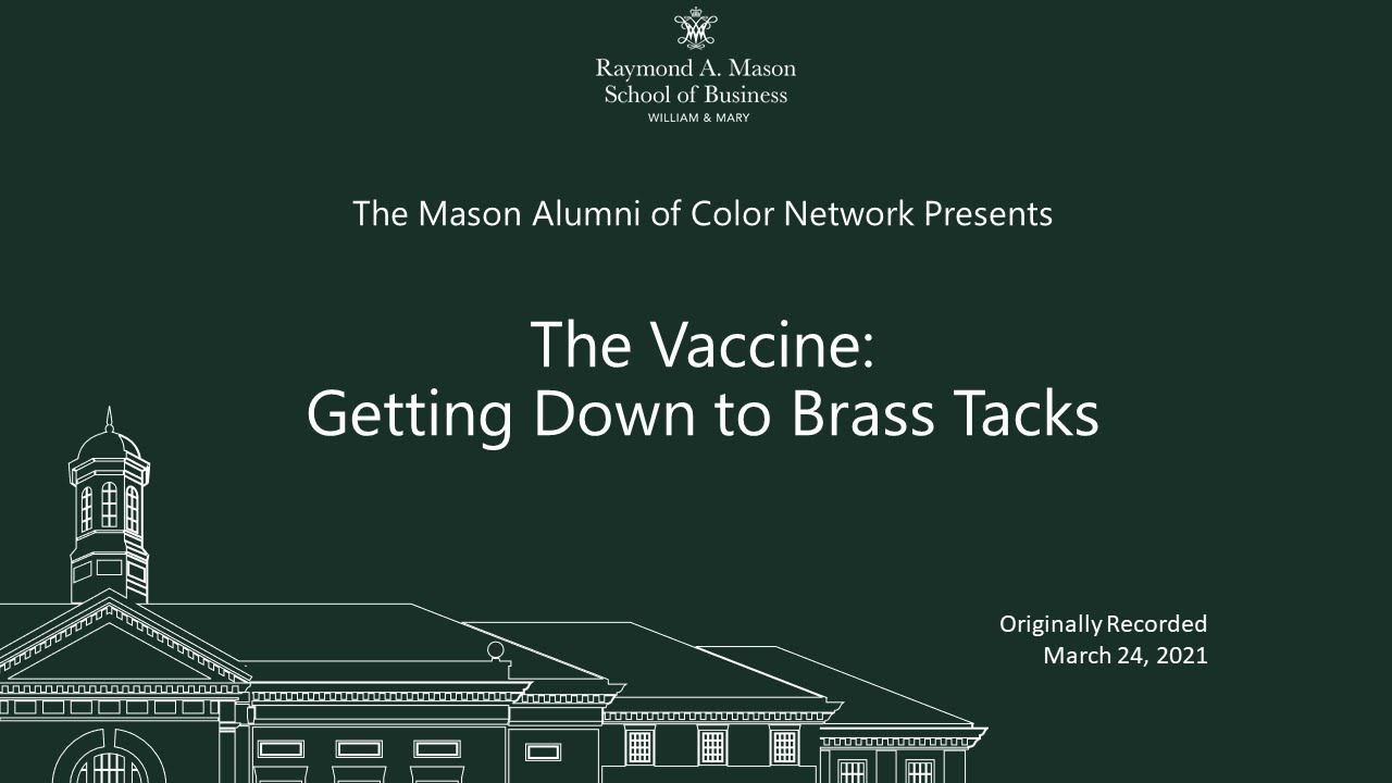 Image for The Vaccine: Getting Down to Brass Tacks Panel Discussion webinar