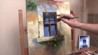 Пишем картину маслом мастер-класс живописи Окошко +79818457723