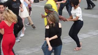 Dancing to Latin Music in downtown Philly