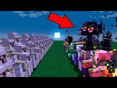 WHO IS STRONGER?! Minecraft Golems VS Monsters!