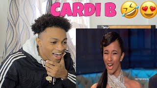CARDI B BEING CARDI B 😂 REACTION