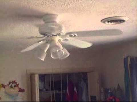 My Old Broken Hampton Bay Ceiling Fan Youtube