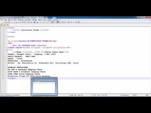 Tutorial HTML : Cara Membuat CV Online
