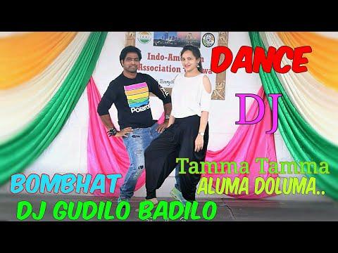 Dance at India day event || Gudilo badilo ||Bombhaat || Tamma Tamma || Aluma doluma|| DJ|| Vinodh