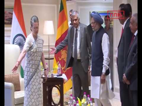 Sri Lanka PM Holds Talks With Sonia Gandhi And Manmohan Singh