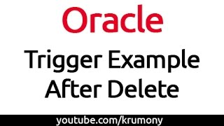 Oracle Trigger Example - After Delete - krumony