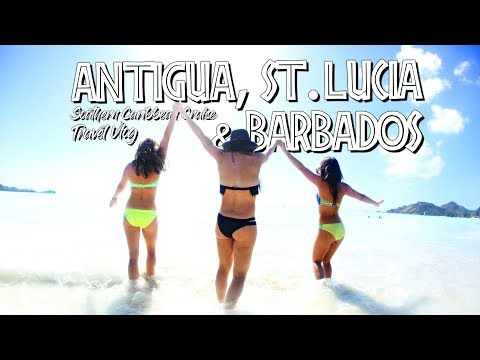 Antigua, St Lucia, Barbados - TRAVEL VLOG 2018 - Cruise on Adventure of the Seas Part 3