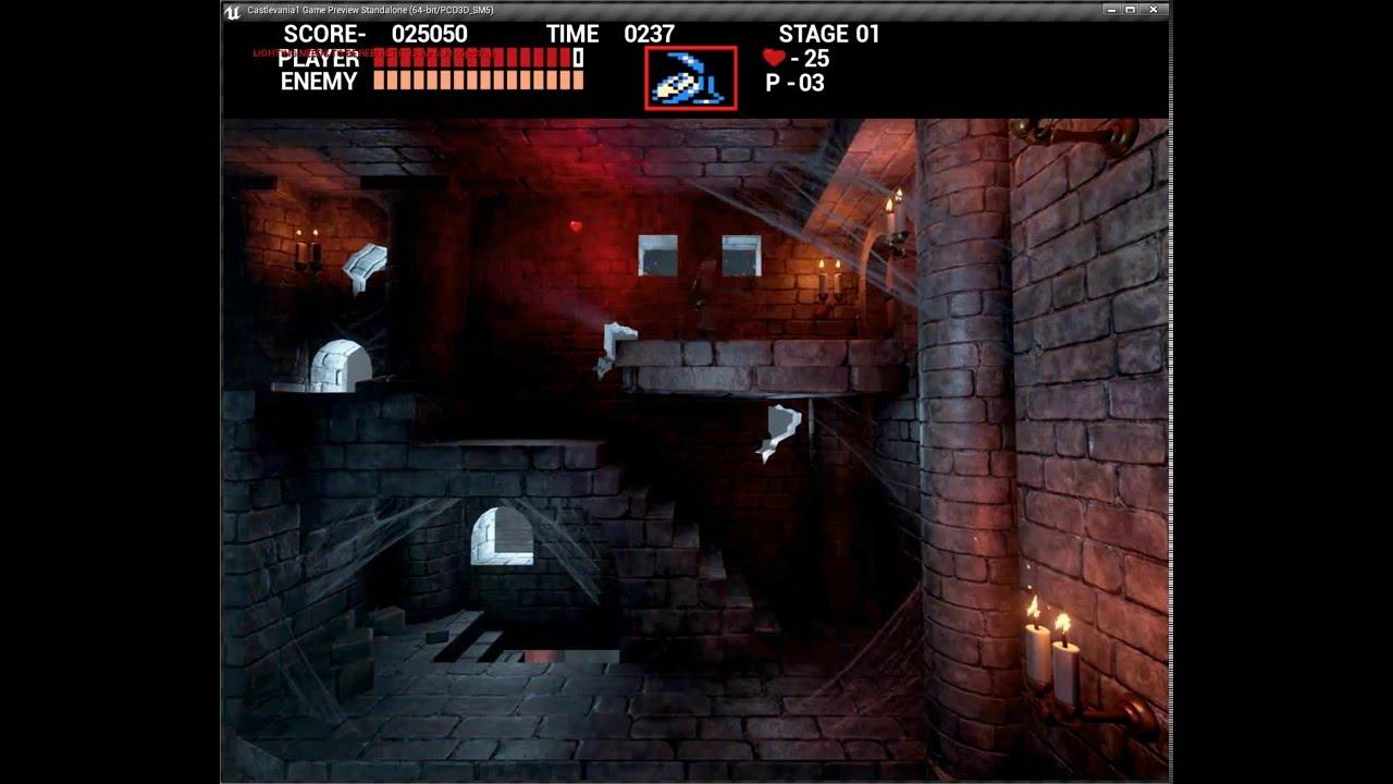 Castlevania 1 remake by dejawolf