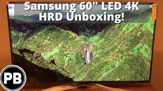 "Samsung 4K 60"" TV Unboxing Model UN60KU630DFXZA"