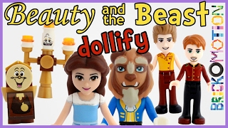 Beauty and the Beast characters turned into LEGO minidolls - dollify