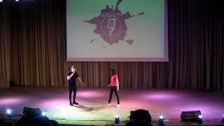 """Полотно - """"Моно-Лиза"""" - шк.№12 - Финал Школы Смеха 2017 г."""