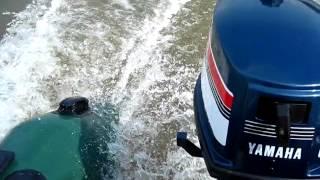 Лодочный мотор Ямаха 4 л.с. Лодка Гелиос 31 мк.(Глиссирование. Мотор Ямаха 4 л\с. Лодка ПВХ Гелиос 31 МК., 2015-06-19T06:30:30.000Z)