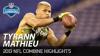 Tryann Mathieu (LSU, DB)   2013 NFL Combine Highlights