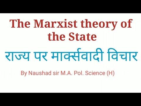 Marxist theory of the State in Hindi राज्य पर मार्क्स के विचार