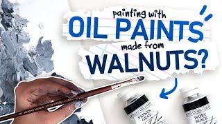 PAINTING WITH WALNUT OIL | Mystery Art Box | Paletteful Packs Unboxing