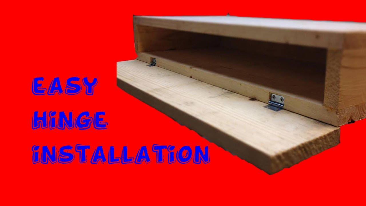 Easy Hinge Installation! - YouTube