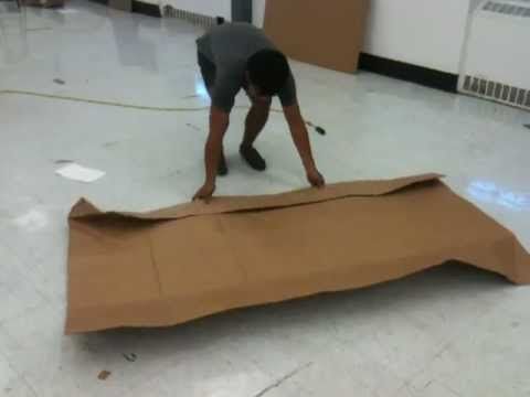 Folding Arm Chair Active Sitting Uk Risd Cardboard Chair: Single Sheet With Desk + Arm/back Rests. - Youtube