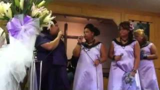 Lina & Lima's wedding; me & sisters singing