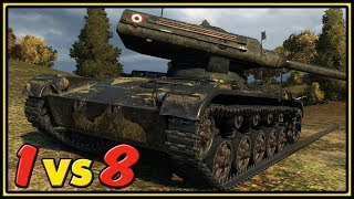 ELC EVEN 90 - 1 vs 8 - 11 Kills - World of Tanks Gameplay