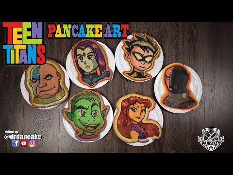 Teen Titans Pancake Art