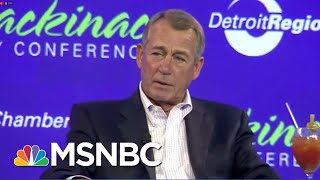 john boehner there is no republican party theres a president trump party hardball msnbc