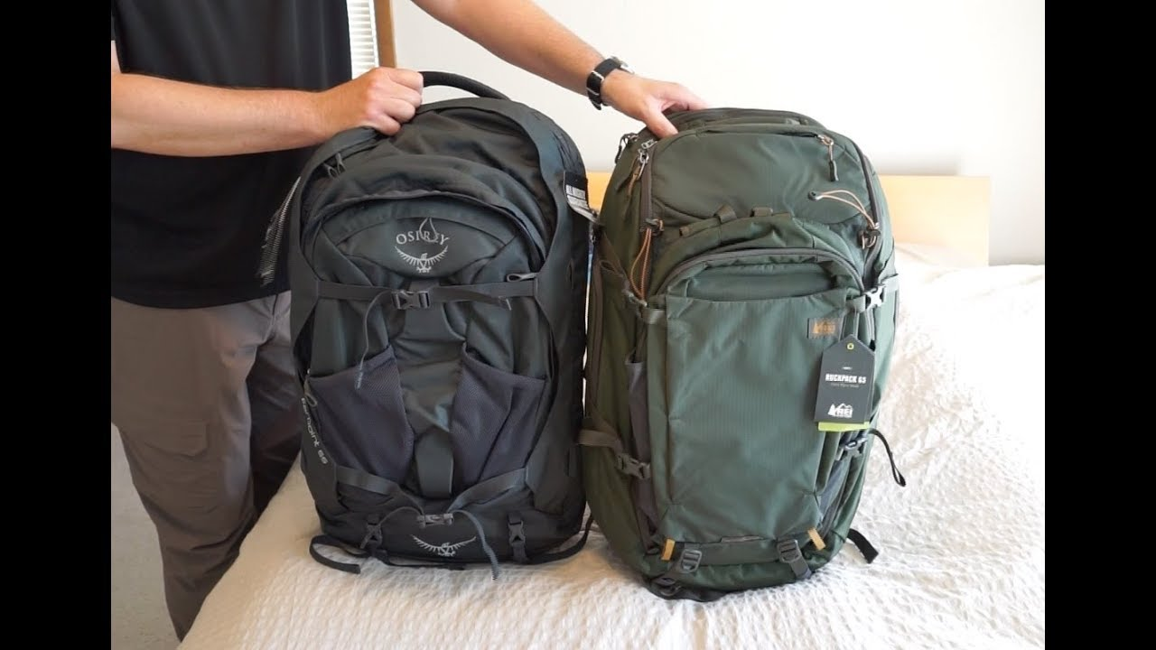 Rei Ruckpack 65 And Osprey Farpoint 55 Travel Backpack Comparison